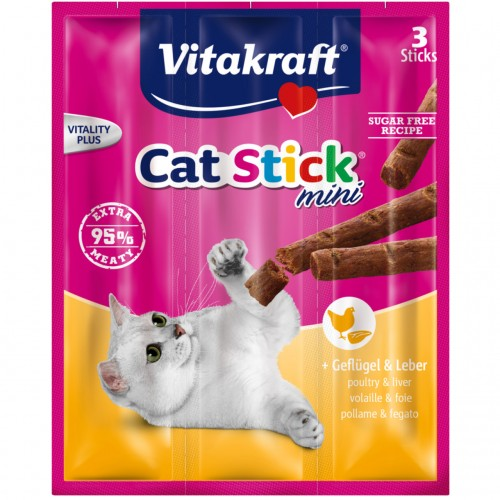 VITAKRAFT CAT STICK MINI POULTRY & LIVER 18g 3ΤΕΜ
