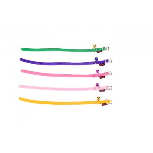 STRETCH COLLAR WITH BELL PINK 10mm 30cm