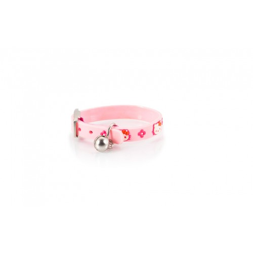 HELLO KITTY LINE CAT COLLAR PINK LARGE 1.0 27cm