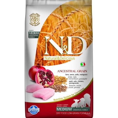 N&D DOG LOW GRAIN CHICKEN & POMEGRANATE PUPPY MEDIUM 2,5kg