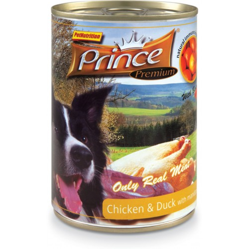 PRINCE DOG CHICKEN & DUCK & MANDARIN & CARROTS & DANDELION 400g