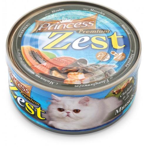 PRINCESS ZEST CHICKEN & TUNA WITH MUSSELS 170g