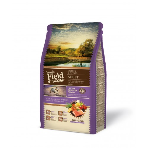 SAMS FIELD ADULT SALMON & POTATO 2,5kg