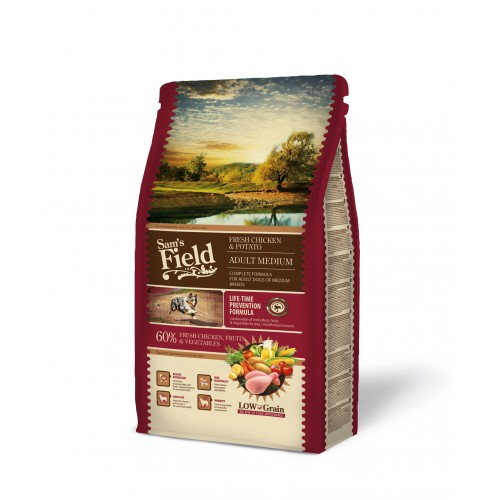 SAMS FIELD ADULT MEDIUM CHICKEN & POTATO 2.5kg