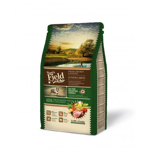 SAMS FIELD JUNIOR LARGE CHICKEN & POTATO 2.5kg