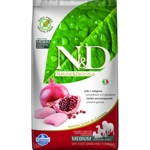 N&D DOG GRAIN FREE CHICKEN & POMEGRANATE ADULT 2,5kg