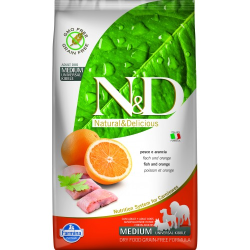 N&D DOG GRAIN FREE FISH & ORANGE ADULT 2,5kg