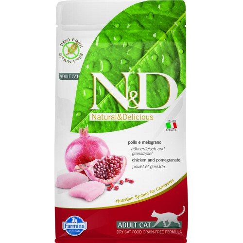N&D CAT CHICKEN & POMEGRANATE ADULT 1,5kg