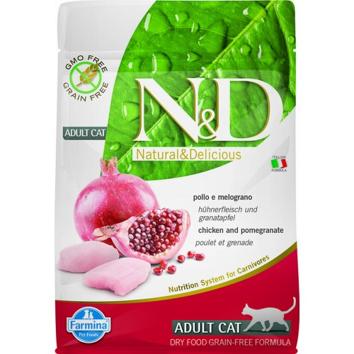 N&D CAT CHICKEN & POMEGRANATE ADULT 300g