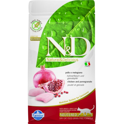 N&D CAT CHICKEN & POMEGRANATE ADULT NEUTERED 1,5kg