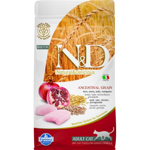 N&D CAT LOW GRAIN CHICKEN & POMEGRANATE ADULT 1,5kg