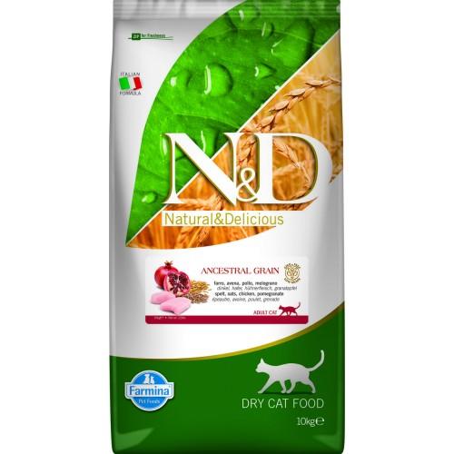 N&D CAT LOW GRAIN CHICKEN & POMEGRANATE ADULT 10kg