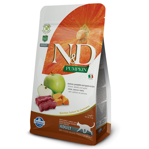 N&D CAT PUMPKIN VENISON & APPLE 1,5kg
