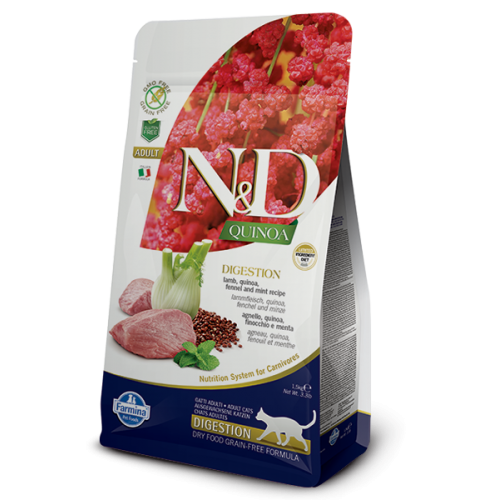 N&D QUINOA DIGESTION LAMB &FENNEL 1,5kg