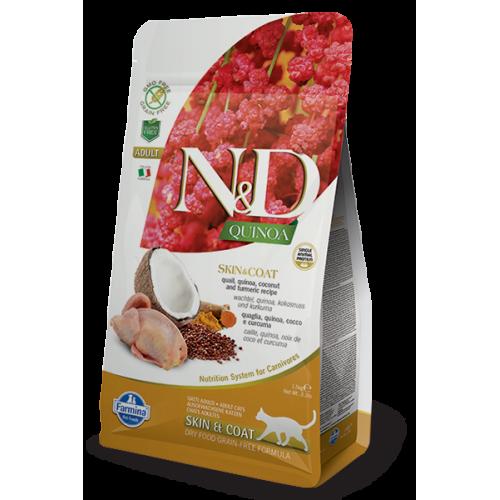 N&D QUINOA SKIN & COAT QUAIL & COCONUT 1,5kg