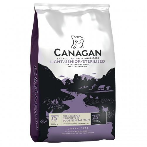 CANAGAN CAT LIGHT & SENIOR FREE RANGE CHICKEN $ SCOTTICH SALMON 1.5Kg
