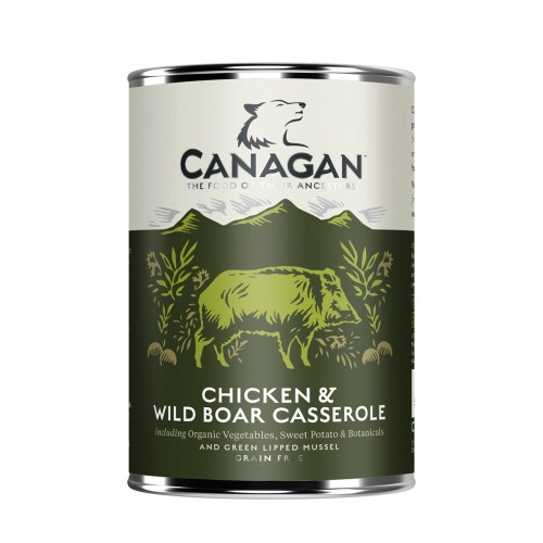 CANAGAN DOG CHICKEN & WILD BOAR CASSEROLE 400g KON