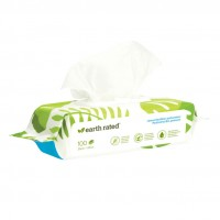 EARTH RATED COMPOSTABLE WIPES 100TEM UNSCENTED