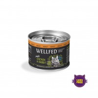 WELLFED CAT ADULT CHICKEN & RABBIT 200 g ΚΟΝ