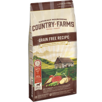 COUNTRY FARMS DOG GRAIN FREE ADULT BEEF 11 kg