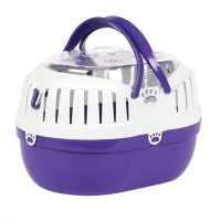 HAPPYPET SMALL ANIMAL CARRIER PURPLE SMALL