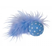 NOBBY BALL W/ RATTLE & FEATHER 4cm