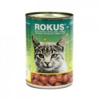 ROKUS CAT CHUNKS ΑΡΝΙ & ΓΑΛΟΠΟΥΛΑ 410g