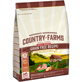COUNTRY FARMS DOG GRAIN FREE PUPPY SMALL BREED TURKEY 7kg