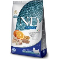N&D LOW GRAIN OCEAN FISH & ORANGE ADULT MINI 2,5kg