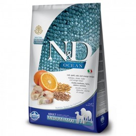 N&D DOG LOW GRAIN OCEAN FISH & ORANGE ADULT MEDIUM & MAXI 12kg