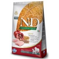 N&D DOG LOW GRAIN CHICKEN & POMEGRANATE ADULT LIGHT MEDIUM & MAXI 2,5kg