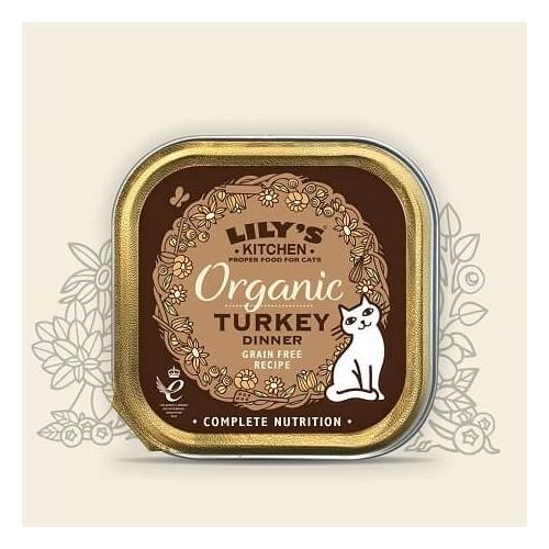 LILY'S KITCHEN CAT ORGANIC TURKEY FEAST 85G ΚΕΣ