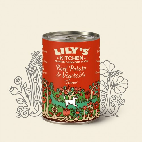 LILY'S KITCHEN DOG BEEF & POTATO & VEGETABLE DINNER 400g