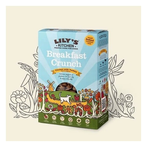 LILY'S KITCHEN DOG BREAKFASTCRUNCH CHICKEN & TURKEY 800g