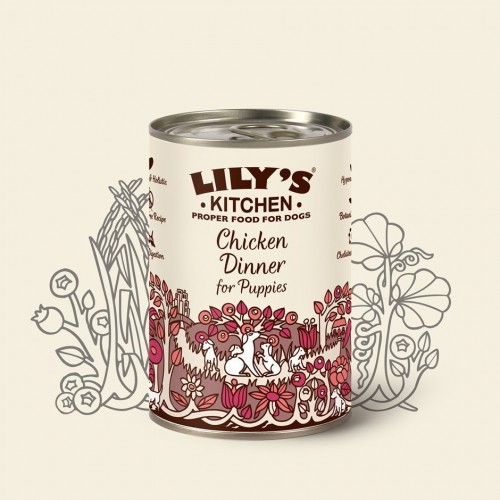 LILY'S KITCHEN DOG CHICKEN DINNER FOR PUPPIES 400g KON