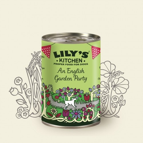 LILY'S KITCHEN DOG ENGLISH GARDEN PARTY 400g KON
