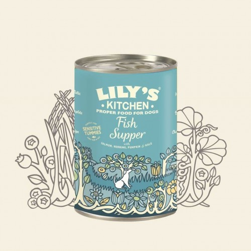 LILY'S KITCHEN DOG FISH SUPPER 400g KON