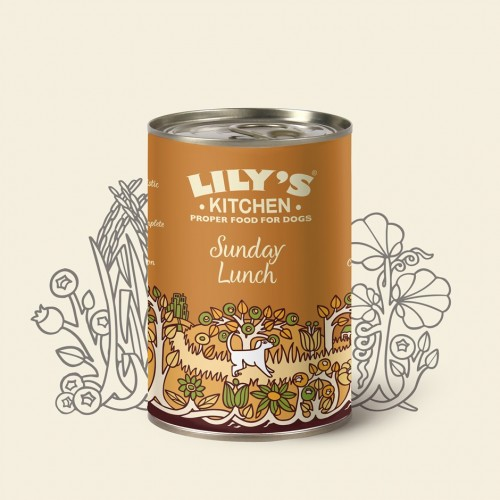 LILY'S KITCHEN DOG CHICKEN SUNDAY LUNCH 400g KON