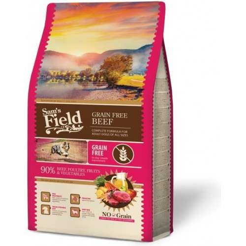 SAMS FIELD GRAIN FREE BEEF 13kg